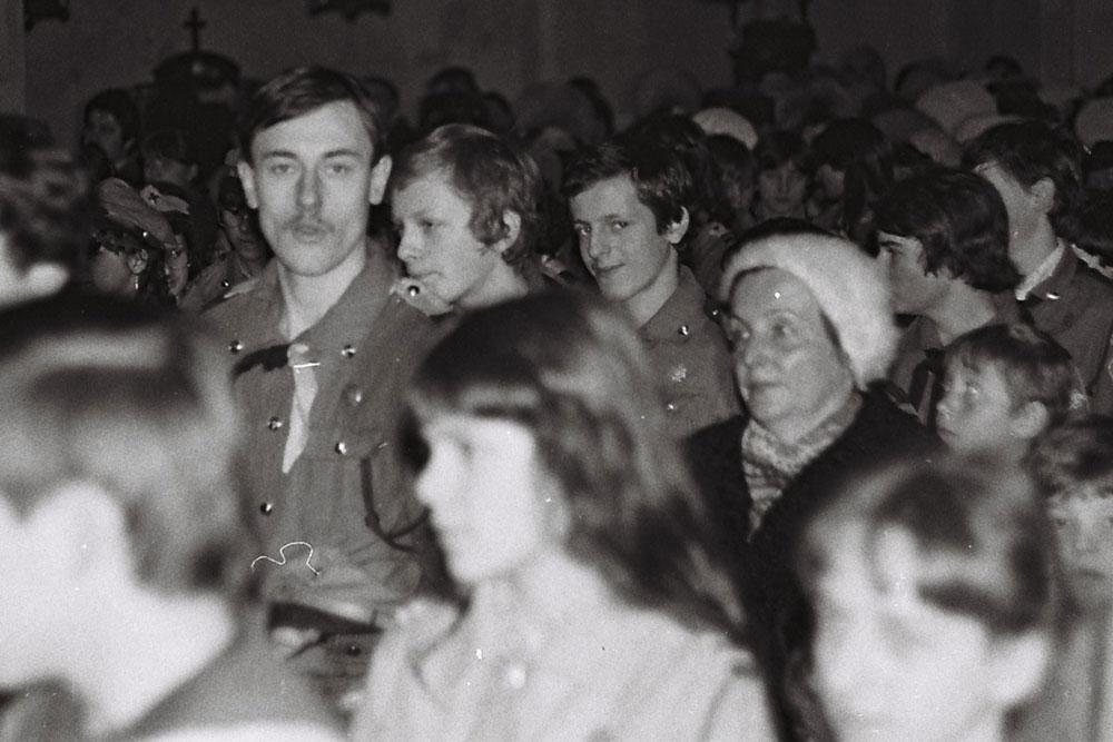 Msza Św. z okazji rocznicy śmierci Andrzeja Małkowskiego styczeń 1982