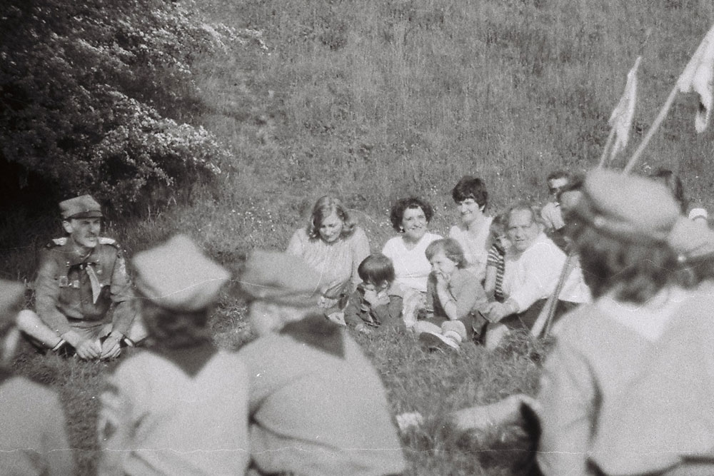 Spotkanie z rodzicami nad zalewem maj 1982