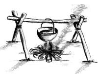 Znalezione obrazy dla zapytania harcerskie kuchnie polowe